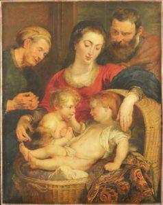 Madonna Cesta prima del restauro