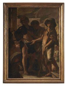 Fondazione De Vito 13_Mattia Preti, Scena di carita` con tre fanciulli