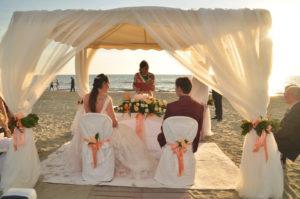 Foto primo matrimonio in spiaggia Ostras 2