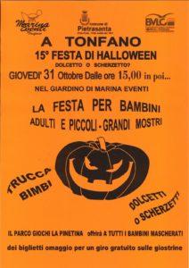 Locandina Halloween Festa Tonfano