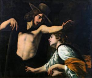 Museo di Palazzo Pretorio 1_Battistello Caracciolo Noli me tangere 1618 olio su tela cm 123×142