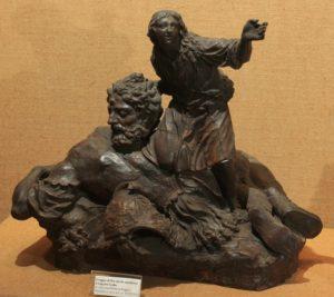inv. 5519David e Golia, XVIII secolo, cera, da Giovan Battista Foggini