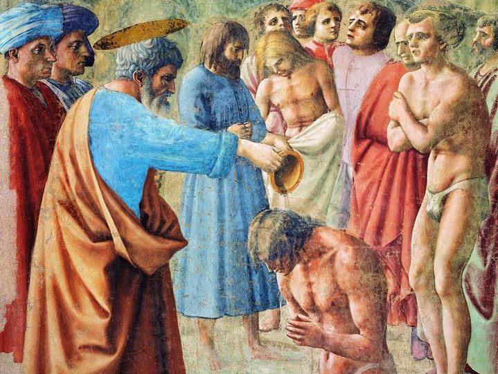 Cappella_brancacci,_Battesimo_dei_neofiti_(restaurato),_Masaccio2