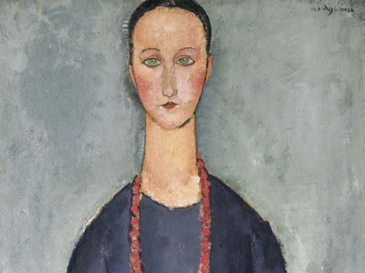 Modigliani, Donna con collana rossa