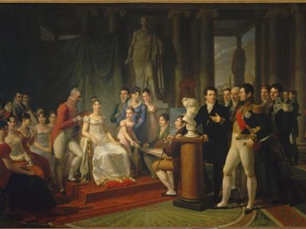 Pietro Benvenuti, Elisa Bonaparte fra gli artisti della Corte – 1811