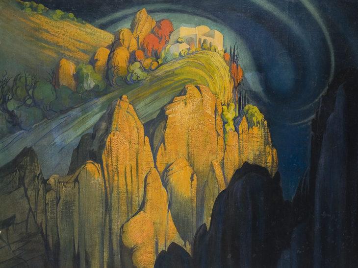 Favai Gennaro_Villa Monacone Capri_1930_olio su tela_108 x 148 cm bassa