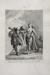 Giovanni Domenico Ferretti (disegnatore), Francesco Bartolozzi (incisore), Arlecchino reduce di guerra_Biblioteca Marucelliana Firenze