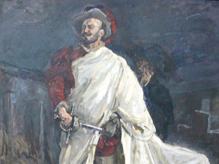 Il baritono Francisco d'Andrade interpreta Don Giovanni nell'opera di Mozart (dipinto di Max Slevogt).