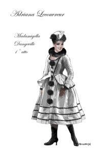 adriana Dangeville costume primo atto di Ivan Stefanutti