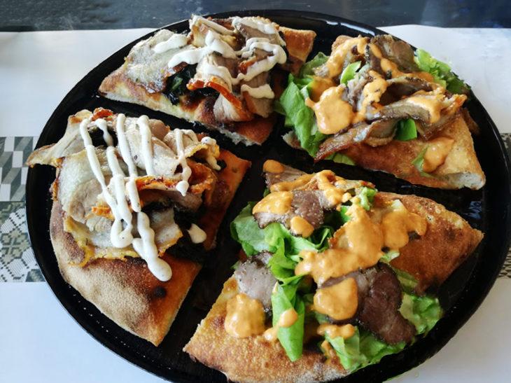 pizza con porchetta