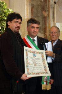 Foto Sepulveda con Sindaco Mallegni e Romano Battaglia