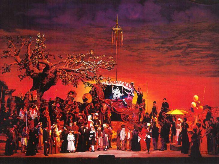 Pagliacci di Leoncavallo, Metropolitan Opera House di New York, 1970 – Regia, scene e costumi di Franco Zeffirelli